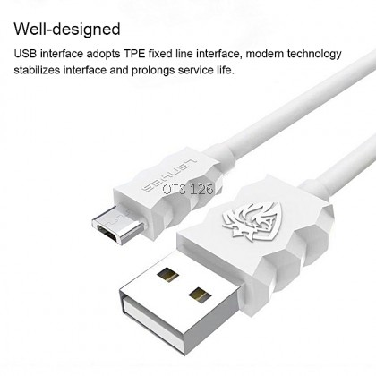 Lenyes Angle Series Fast Cable 3A - LC807 For MicroUSB / Type C / Lightning
