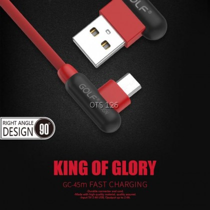 GOLF 2.4A King Of Glory Data Cable GC-45 For Type C / Lightning / Micro