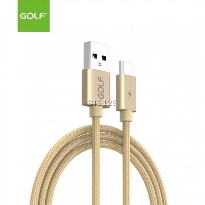 Cable Golf GC-76 5A Quick Charge Flat Nylon Micro / Lightning / Type-C Data Cable