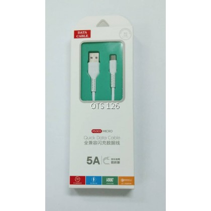 5A Quick Data USB Cable PS003 For Micro / Type C / Lightning