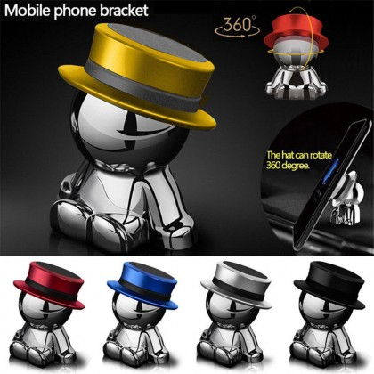 Hat Man Dashboard Stand 360° Rotation Car Magnetic Holder Mount